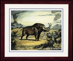 "Brontotherium, Titanothere, Framed 17"" x 14"""