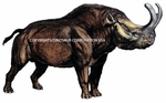Brontotherium-Titanothere Wall Sticker