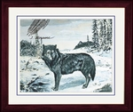 "Canis Lupus--Pleistocene--Art Picture Framed, 17"" x 14"""