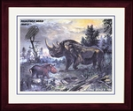 "Coelodonta - Framed Art Picture 17"" x 14"""