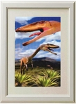 3D Jurassic World Coelophysis Dinosaur Framed Picture