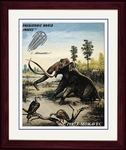 "Columbian Mammoth, Prehistoric Animal,  Framed Picture, 17""x14"""