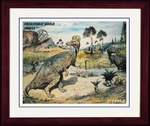 "Corythosaurus Picture, Cretaceous Period, Framed 17"" x 14"""