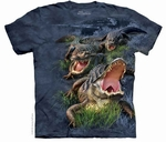 Prehistoric Gator Crocodile T-shirt Adult Sizes