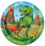 "Prehistoric Jungle Dino Beverage Plates, 7"", 8 pcs"