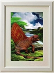 3D Dimetrodon Dinosaur Framed Prehistoric Picture Kids Room Decoration