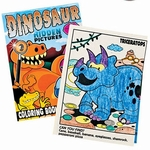 Dino Coloring Books with Stickers, 12 pcs