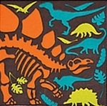 Dino Dig Party Dinosaur Beverage Napkins, 16 pcs
