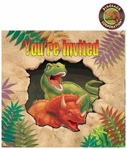 Dino Blast Invitations Dinosaur Birthday Party