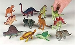 "Medium Dinosaur Toys Plastic Figures, 6-8"", 96 pcs"