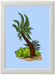 Dinorama Framed Palm Decoration Picture