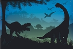 "Giant Dinosaur Backdrop, 108"" 3 pcs"