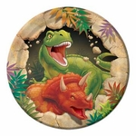 "Dino Blast Birthday Party Beverage Plates, 7"", 8 pcs"
