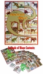 Kids Prehistoric Dinosaur Educational Bingo Game