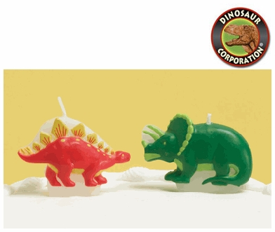 Dinosaur Birthday Cake Candles Set 4 Pcs