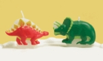 Dinosaur Birthday Cake Candles Set, 4 pcs
