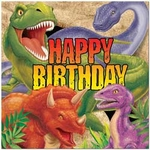 Dinosaur Birthday Napkins, 16 pcs