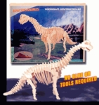 3D Brachiosaurus Wood Bones Skeletons Kits, 22 inch, 6 Sets