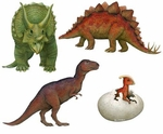 Dinosaur Wall Stickers Combo Pack