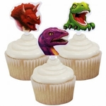 Dinosaur Cupcake Toppers Decoration, 12 pcs