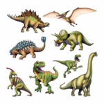 Dinosaur Wall Decoration Cardboard Cutouts
