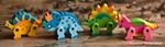Movable Dinosaur Erasers, 4 pcs