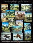Permian Cretaceous and Jurassic World Dinosaurs, 20 Oil Paintings 90 Days