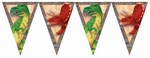 Dinosaur Flags Banner, 12 FT