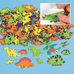 Dinosaur Foam Shapes Stickers, 100 pcs