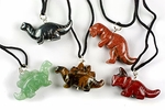 Special Offer: Dinosaur Figure Pendant Gemstone Necklace