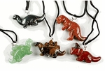 3D Dinosaur Gemstone Necklaces, 6 pcs
