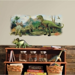 Dinosaur Giant Scene Peel and Stick Wall Graphic