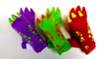 Dinosaur Plush Gloves, 3 pair
