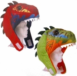 T-rex Dinosaur Soft Plush Hats, 3 pcs