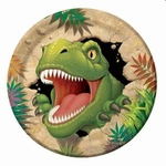 "Dino Blast Dinosaur Birthday Party Lunch Plates, 9"", 8 pcs"