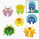 Dinosaur Masks, 6 pcs