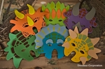Dinosaur Masks Triceratops Party Masks, 6 pcs
