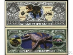 Jurassic World T-rex Dinosaur Money Million Dollars, 12 pcs