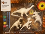 Museum Natural History Dinosaur Paint & Play Set