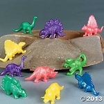 "Stretchy Dinosaurs, 1.5""-2"", 12 pcs"