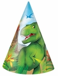 Prehistoric Jungle Dino Hats, 8 pcs
