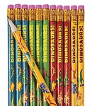 Dinosaur Pencils, Prehistoric Pencils, Back to School, 12 pcs