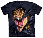 Jurassic World T-rex Dinosaur Ripping T-shirt Adult Sizes