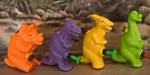 Dinosaur Squirts Water Game Toys, 4 pcs