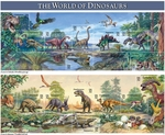 The World of Dinosaurs USA Collectible Stamps, 1997