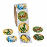 Dinosaur Stickers in Roll, 12 pcs