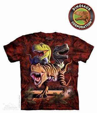 3109dce44 The Mountain Dinosaur T-rex Collage T-shirt