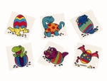 Dinosaur Eggs Temporary Tattoos, 36 pcs