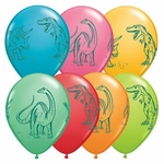 Dinosaur Balloons Birthday Party Decoration, 11 inch, 6 pcs