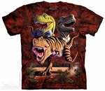 Dinosaur T-rex Collage T-shirt, 3 pcs